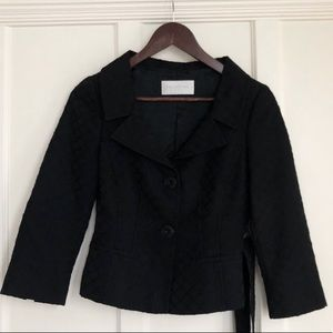 Black Valentino Roma blazer with subtle embroidery